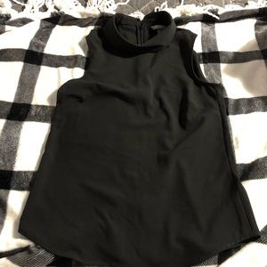 Women's H&M black mock turtleneck tank tops. Sz 0